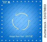circular arrows vector icon | Shutterstock .eps vector #524378803