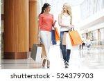 young beautiful happy women... | Shutterstock . vector #524379703