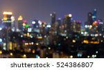 abstract blurred lights city... | Shutterstock . vector #524386807