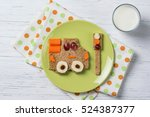funny sandwich with car and... | Shutterstock . vector #524387377