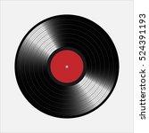 vinyl records  realistic vinyl... | Shutterstock .eps vector #524391193