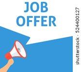 job offer announcement. hand... | Shutterstock .eps vector #524400127