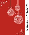 red and white christmas... | Shutterstock .eps vector #524404933