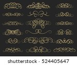 vintage decor elements and... | Shutterstock .eps vector #524405647
