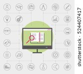set of icons for electronic... | Shutterstock .eps vector #524407417