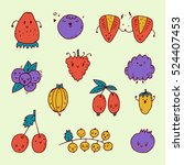 set of colorful hand drawn... | Shutterstock .eps vector #524407453