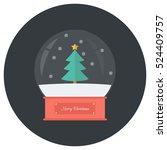 Snow Globe Icon . Flat Design...