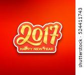 happy new year 2017 paper label ... | Shutterstock .eps vector #524411743
