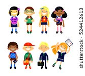 set of characters elementary... | Shutterstock .eps vector #524412613
