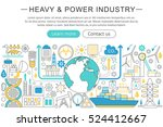 vector modern line flat design... | Shutterstock .eps vector #524412667