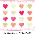 vector collection of scribbled... | Shutterstock .eps vector #524415673