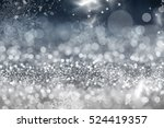 magic blue holiday abstract... | Shutterstock . vector #524419357