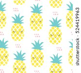 Seamless Pineapple Pattern...