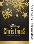 elegant merry christmas and... | Shutterstock . vector #524431477
