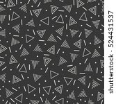 retro memphis geometric line... | Shutterstock .eps vector #524431537