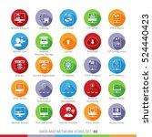 modern flat data and networks... | Shutterstock .eps vector #524440423