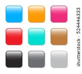 set of square buttons | Shutterstock .eps vector #524446333