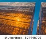 skyscraper buildings and sky... | Shutterstock . vector #524448703