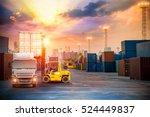industrial container cargo... | Shutterstock . vector #524449837