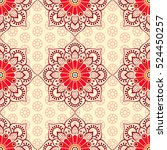 ethnic floral seamless pattern | Shutterstock .eps vector #524450257