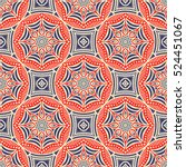 ethnic floral seamless pattern | Shutterstock .eps vector #524451067