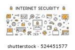 line design concept web banner... | Shutterstock .eps vector #524451577