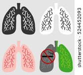 human lungs  lungs icon... | Shutterstock .eps vector #524452093