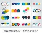 mega set of 3 steps infographic ... | Shutterstock .eps vector #524454127