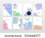 geometric background template... | Shutterstock .eps vector #524468377