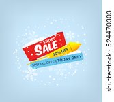 vector banner for super sale | Shutterstock .eps vector #524470303