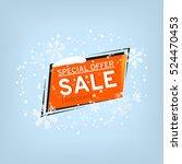 winter sale banner design. sale ... | Shutterstock .eps vector #524470453