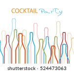 cocktail party vector.alcoholic ... | Shutterstock .eps vector #524473063