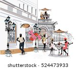 fashion people in the... | Shutterstock .eps vector #524473933
