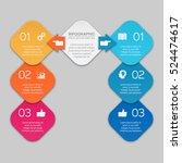 vector infographic template | Shutterstock .eps vector #524474617