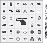 helicopter icon. delivery icons ... | Shutterstock .eps vector #524474953