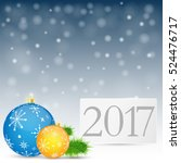 happy new year background 2017. ... | Shutterstock .eps vector #524476717