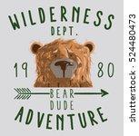 bear head and cute wilderness... | Shutterstock .eps vector #524480473