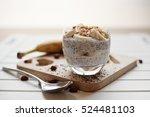 banana chia yogurt pudding... | Shutterstock . vector #524481103