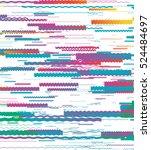 simple horizontal lines  zigzag ...   Shutterstock .eps vector #524484697