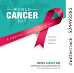 february 4  world cancer day.  | Shutterstock .eps vector #524493283