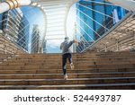 young man run into a future on... | Shutterstock . vector #524493787