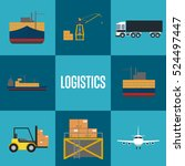 logistics and freight... | Shutterstock .eps vector #524497447
