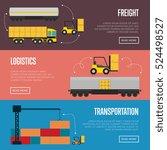 logistics concept technology...   Shutterstock .eps vector #524498527