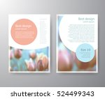 set vector brochure flyer... | Shutterstock .eps vector #524499343