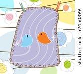 decorative design with birds... | Shutterstock .eps vector #52450399