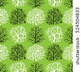 seamless pattern with cute... | Shutterstock .eps vector #524504833