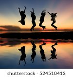 photo of silhouette women...