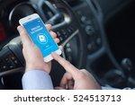 english dictionary app on screen | Shutterstock . vector #524513713