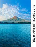 Centered Mount Fuji Bathes In...