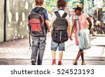 multi ethnic classmates walking ... | Shutterstock . vector #524523193